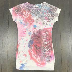 imaginary voyage Short Sleeve Graphic Print Shirt
